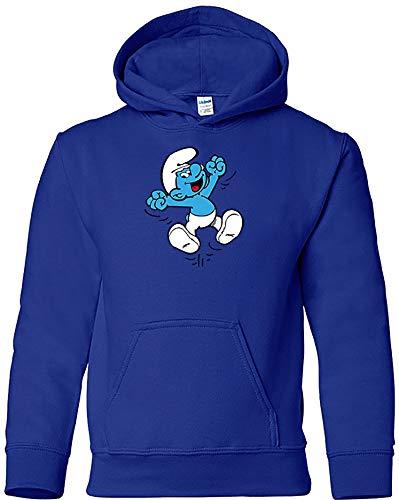 Camisetas EGB Sudadera Pitufo Adulto/Niño ochenteras 80´s Retro (3-4 años, Azulón)