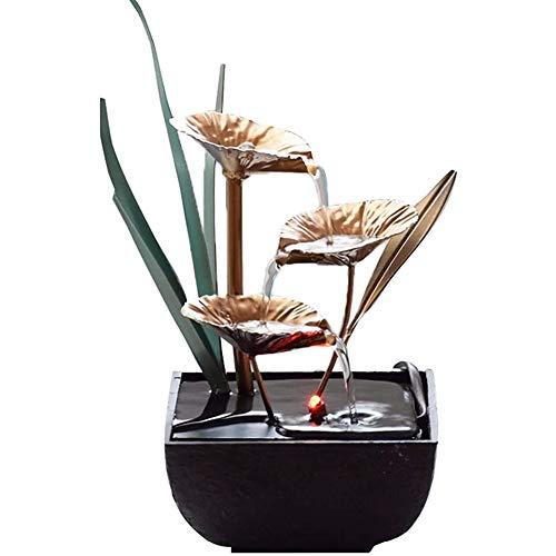 Cakunmik Fuente de Escritorio, Creatividad Adornos de Agua Escultura Resina Artesanía Sala de Estar Casa y decoración de Oficina Regalos de Negocio