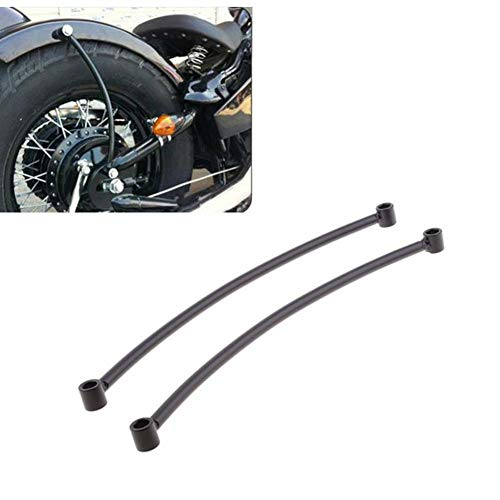 Motorrad Kotflügel Hinten Schwarz Schiene Unterstützung Bracket Halter Bobber Fender Für Harley Cruiser Motorrad Rahmen Zubehör r30