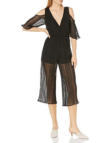 MINKPINK Damen Raphael Cropped Jumpsuit, schwarz, Klein