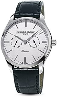 Frederique Constant Classics Silver Dial Leather Strap Men's Watch FC-259ST5B6