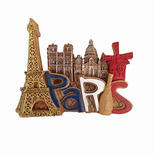 3D Paris France Fridge Magnet Travel Souvenir Gift Home Kitchen Refrigerator Decoration Magnetic Sticker Collection