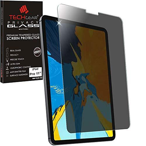 TECHGEAR Anti Spy Screen Protector iPad Air 4, iPad Pro 11' - PRIVACY Edition Genuine Tempered Glass Screen Protector Compatible with iPad Air 4 10.9 4th Generation, iPad Pro 11 2020/2018 2nd/1st Gen