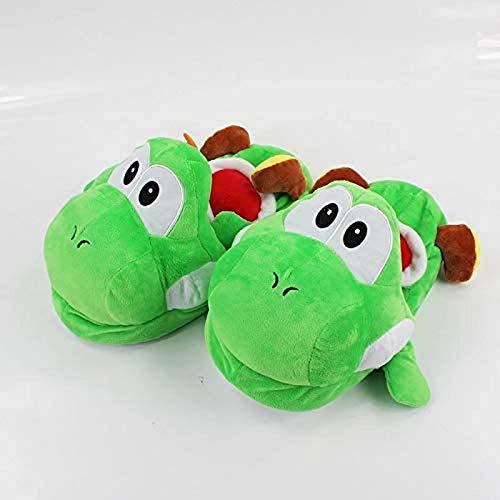 buyaoku Igel Super Mario Plüschschuhe 28 cm. Super Mario Bros. Yoshi Plüsch gepolsterte Hausschuhe, um im Winter warm zu halten. IndoorSchuhe für Erwachsene