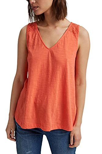 ESPRIT Damen 041EE1K392 T-Shirt, 645/CORAL, M