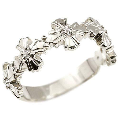[アトラス] Atrus リング レディース pt900 プラチナ900 ダイヤモンド クロス 指輪 22号