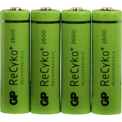 GP Battery NiMH Rechargeable Batteries AA Nickel Metall-Hydrid 2600mAh 1.2V Wiederaufladbare Batterie, 120270AAHCBC4