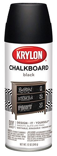 Krylon, Black I00807 Chalkboard Aerosol Spray Paint, 12-Ounce