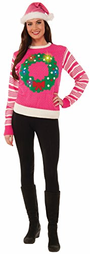 Forum Novelties Light-Up Ugly Christmas Sweater Jumper for Women