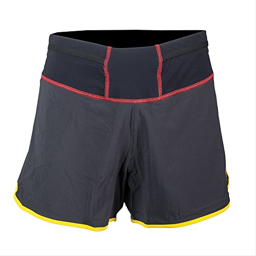 La Sportiva Men's Rush Running Short - Trail Running Shorts for Men 4 inch, Black, XS