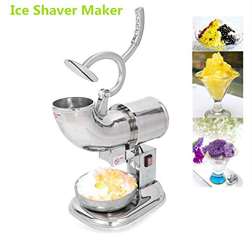 New Electric Snow Cone Shaved ICEE Maker Machine 220W, Mini Drink Ice Shaver Block Shaving Crusher S...