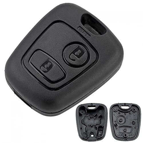 ECOPRINTING | Carcasa para Llave de Coche Compatible con Peugeot 107 207 307 407 106 206 306 406