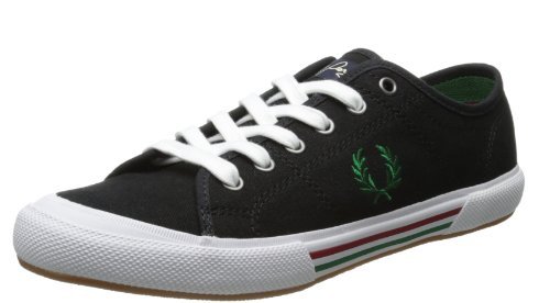 Fred Perry Vintage Tennis Canvas Black Green 42