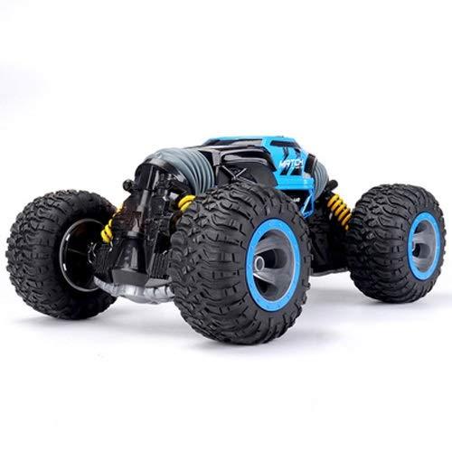 Lihgfw Super große Fernbedienung Off-Road-Fahrzeug 1/8 Maßstab verformbar Twisting Auto Spielzeug Allradantrieb Klettern Rennwagen Aufladbarer Junge (Color : Blau, Größe : 2 Batteries)