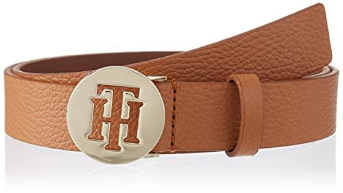 Tommy Hilfiger Damen TH Round 3.0 Grtel, Cognac, 100 cm