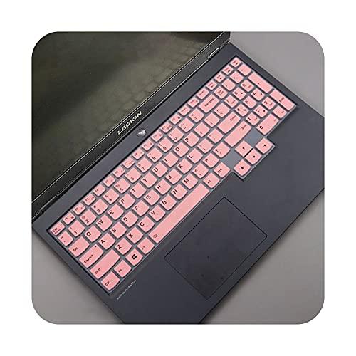 Para Lenovo Ideapad Gaming 3i 3 i 15 pulgadas AMD gaming laptop 15.6 pulgadas 2020 silicona portátil teclado cubierta piel Protector-rosa