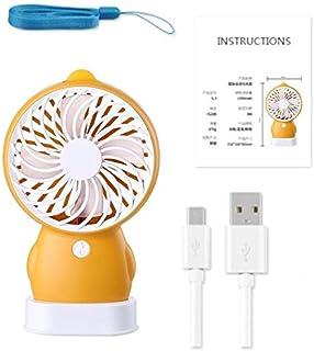 Yellow Duck Penguin Fan Creative Personality Mini Usb Charging Fan Student Fan Summer Portable Small Fan United States orange