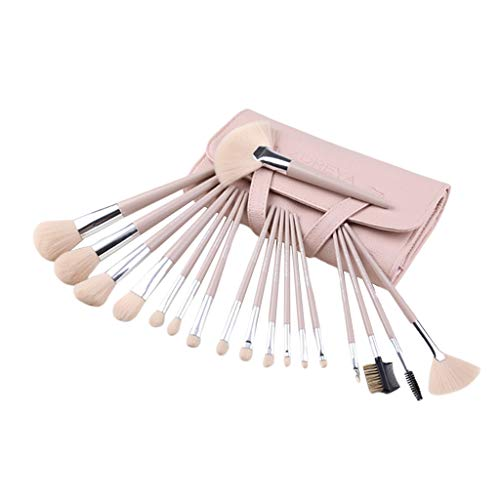 MERIGLARE 18x Kabuki Powder Liquid Blender Brushes Set Foundation Fard à Paupières Brosse à Lèvres