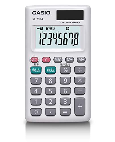カシオ パーソナル電卓 税計算 カードタイプ 8桁 SL-797A-N