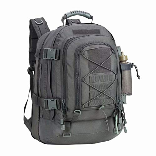 PANS Backpack for Men Large Military Backpack Tactical Waterproof Backpack for Work,School,Camping,Hunting,Hiking(GRAY)