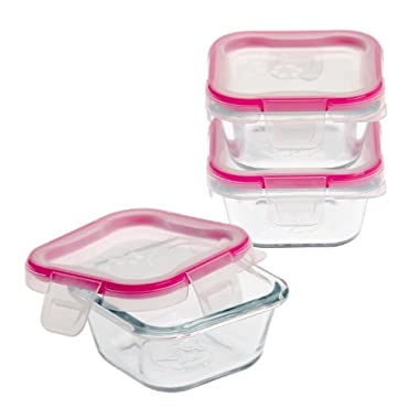 Snapware 1109328 6-Piece Glass Square Container Set with Total Solution Lid