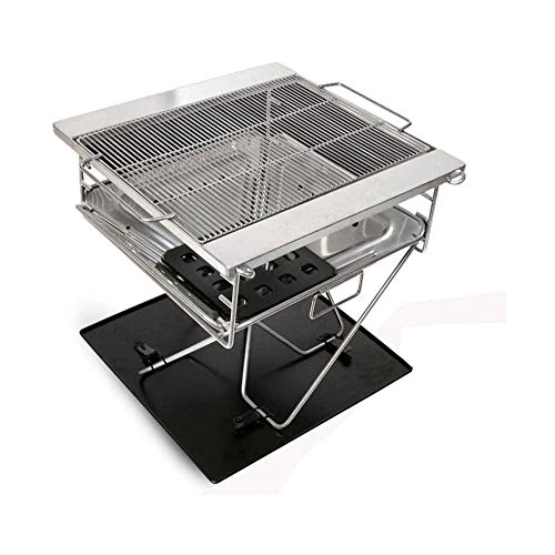 Check Out This LKNJLL Portable Charcoal Grill,Extra Large Outdoor Body 304 Stainless Steel Barbecue ...