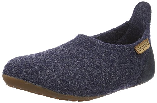 Bisgaard Unisex-Kinder Wool Basic Slipper, Blau (20 Blue), 22 EU