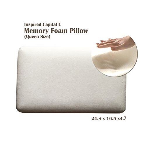 Inspired Capital L Memory Foam Pillow For Side and Back Sleepers