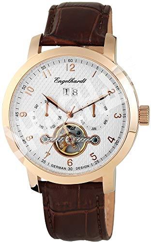 Engelhardt Herren Analog Mechanik Uhr mit Leder Armband 388932529008