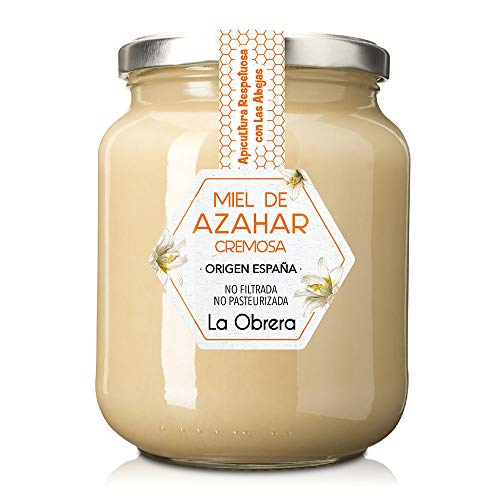 La Obrera - Miel Pura de Azahar en crema - 100{1dc852be926a0fba64bc55c12a36dfea707bb3b762ae3c5723409ad6acc6411d} Origen España - 950 g