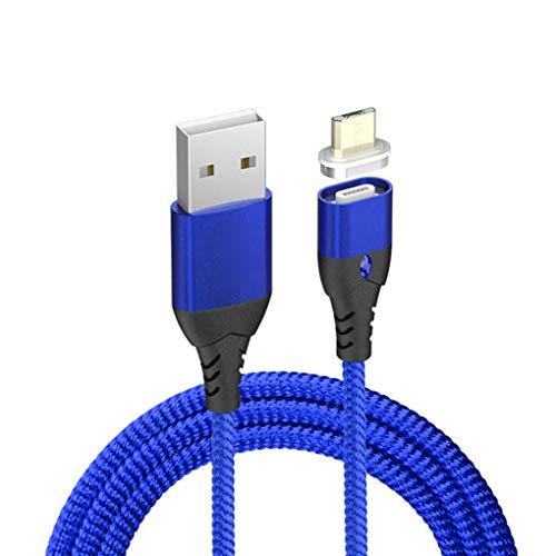 Stebela Carga magnética Línea de Cable Micro USB Tipo C 8 Pin Imán rápido reemplazo Adaptador de Cargador para el iPhone/iPad/Xiaomi/Huawei/Samsung