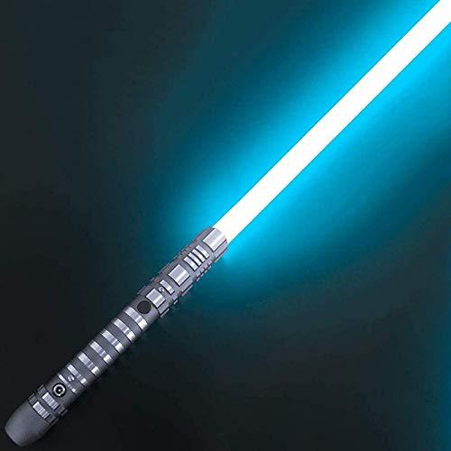 Sable de luces Star Wars que brilla intensamente, sable de luz de juguete de juguete con efectos de sonido para niños y adultos metal extraíble, regalo de carga USB, juguete de cosplay,Light blue