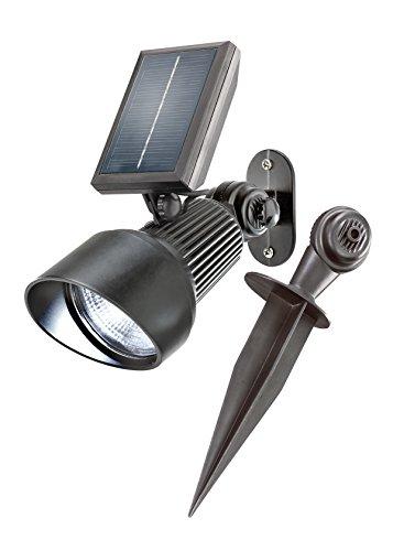 esotec 102134 Spotlight op zonne-energie, RGB, 7 lichtkleuren naar keuze, duur of wissellicht, buitenverlichting op zonne-energie