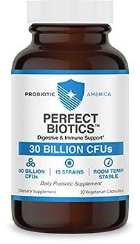 Probiotic America® Perfect Biotics 30 Billion CFUs Digestive & Immune Support Supplement 30 Count