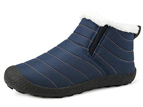 CCZZ Unisex warmer schnee stiefel stiefeletten pelzbesatz stiefel anti slip eindickung-walking-schuhe sohle für eltern cotton schuhe 1 1 3 uk light blau - adult