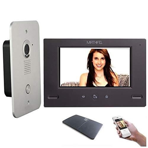 4 Draht Video Türsprechanlage Gegensprechanlage 7'' Monitor Klingel Farb mit oder ohne WLAN Schnittstelle, 1x7'' Monitor mit WLAN Schnittstelle