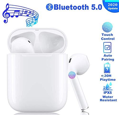 Auriculares Bluetooth, Auriculares inalámbricos 3D estéreo HD Bluetooth Deporte con Micrófono Reducción de Ruido CVC 8.0 Cascos para Apple AirPods iPhone/Androi