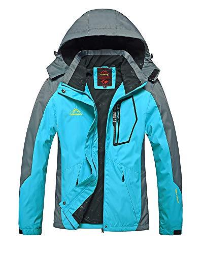 Mujer Hombre Al Aire Libre Montaña Impermeable Windbreaker Softshell Esquí Chaqueta con Capucha Ropa Deportiva Impermeable Chaqueta