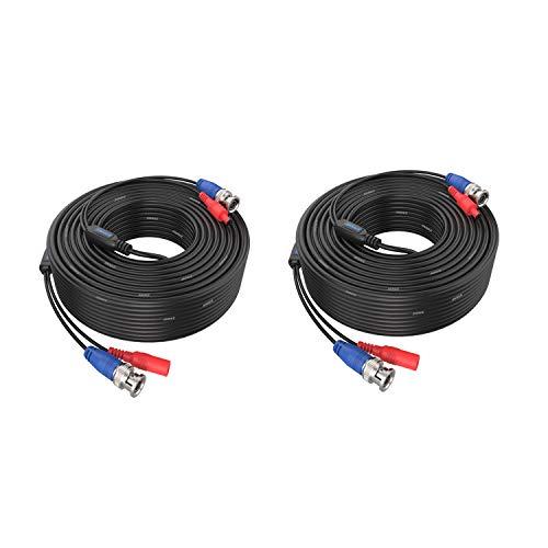 ANNKE 2 x 30 m BNC Cable AHD Video CCTV DVR DC...
