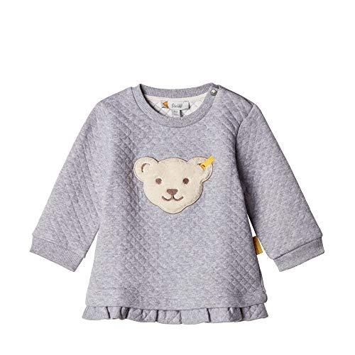 Steiff Baby - Mädchen Sweatshirt , Grau (QUARRY 9007) , 68 (Herstellergröße:68)