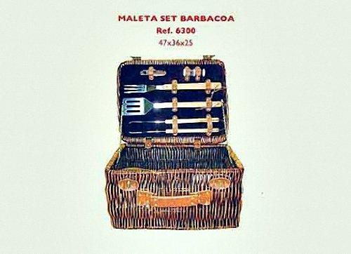 Creaciones meng - 6300 - Maleta barbacoa mimbre buff