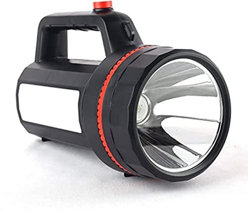 CINEFX'S LED High Power Searchlight Built-in Flashlight Rechargeable High Brightness Blinker + Sidetube with 4000 mah Battery (Black)