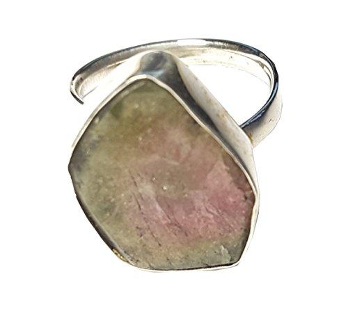 KRIO® - Wassermelonen Turmalin als Schal Ring größenverstellbar