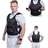 HunterBee Weighted Vest Adjustable Weighted Vest Jacket Training Exercise Jogging Fitness Workouts Weight Vest for Running, Workout, Cardio