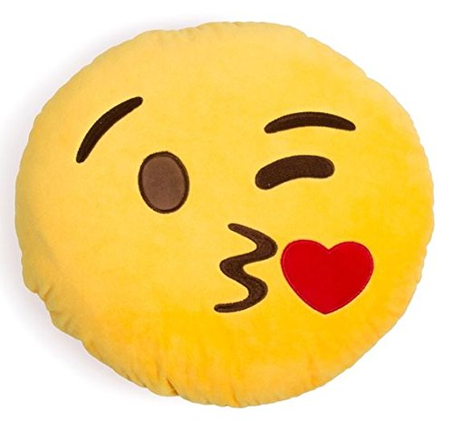 Ducomi® Coussins Emoji Smiley - Winking Face Throwing a Kiss