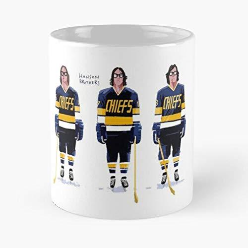 5TheWay Charlestown Chiefs Hockey Fictional Movie Comedy Team Sports - Best 11 oz Kaffeebecher - Nespresso Tassen Kaffee Motive