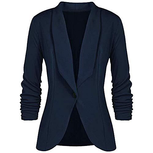 FRAUIT Vrouwen Top dames OL stijl driekwart mouw blazer pak jas elegante slanke mantel kort parka