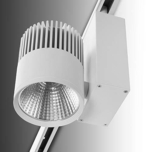 Greenice   Foco Carril LED Blanco 20W 1600Lm Epistar - Kimera   Blanco Cálido
