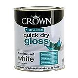 Crown Quick Dry Gloss 750ml Pure Brilliant White (358142)