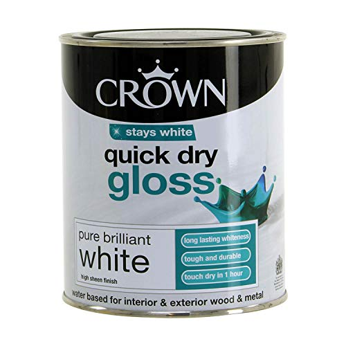 Crown Quick Dry Gloss 750ml Pure Brilliant White...